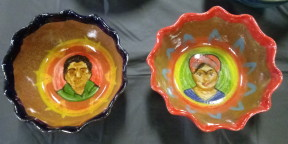 Frida and Diego bowls